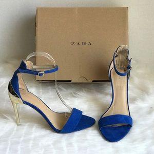 Zara Cobalt Blue Sandals Size 37